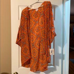 LulaRoe Orange Aztec Lindsay